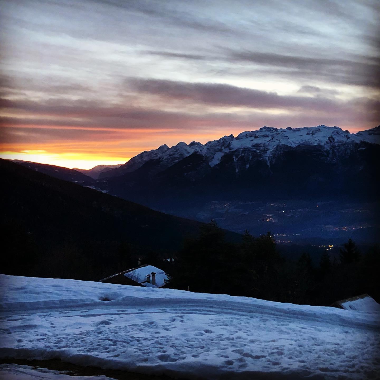 neve al tramonto